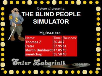 Blind People Simulator