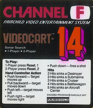 Videocart-14: Sonar Search