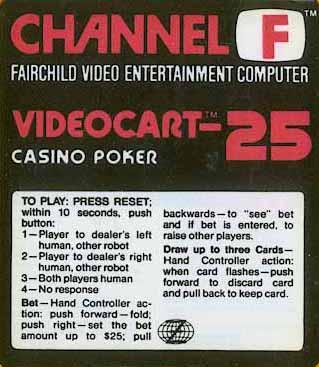 Videocart-25: Casino Royale