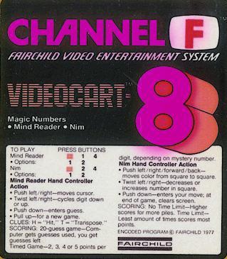 Videocart-8: Magic Numbers