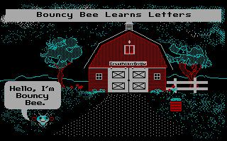 Bouncy Bee Learns Letters
