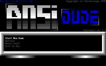 The Amazing Adventures of ANSI Dude