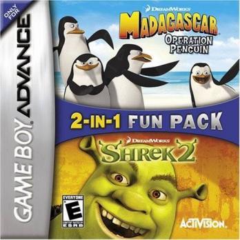 2-In-1 Fun Pack: Dreamworks Madagascar: Operation Penguin + Dreamworks Shrek 2