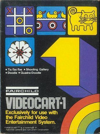 Videocart-1: Tic-Tac-Toe, Shooting Gallery, Doodle, Quadra-Doodle