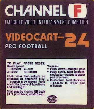 Videocart-24: Pro-Football