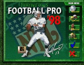 Front Page Sports: Football Pro '98
