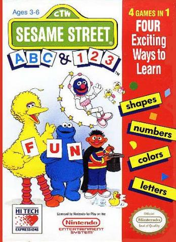 Sesame Street 1 2 3/A B C