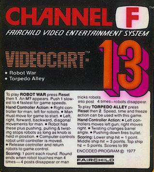 Videocart-13: Torpedo Alley, Robot War